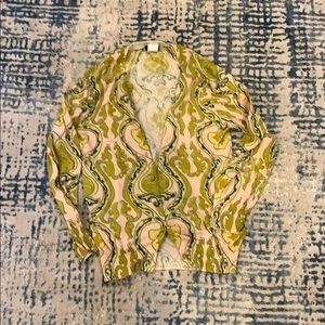 Paisley printed cardigan